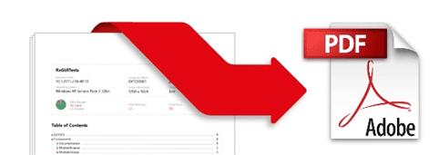 rapport genereren en exporteren naar pdf